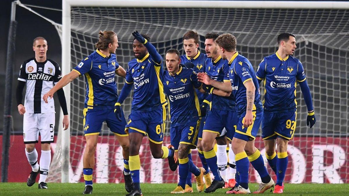 Dimarco - Hellas Verona-Parma - Serie A 2020/2021 - Getty Images