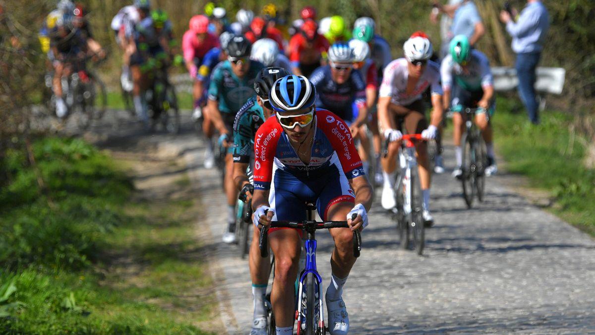 Anthony Turgis, ici à la manoeuvre sur A Travers la Flandre, a tout pour briller sur le Ronde.