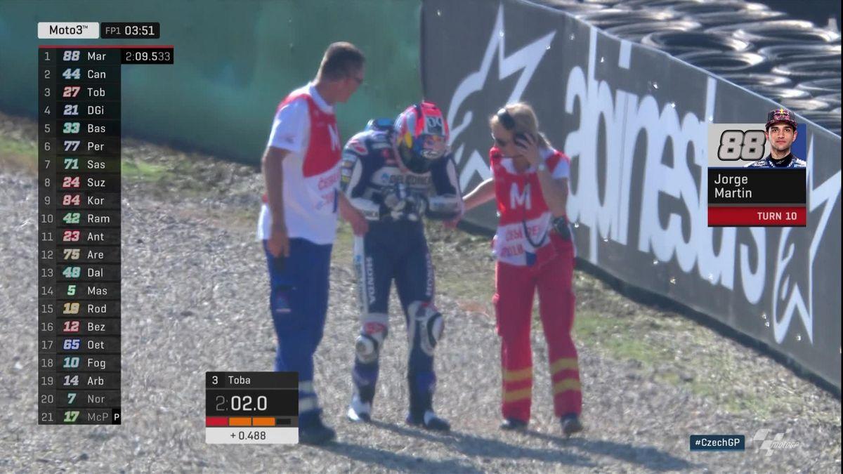 Moto 3 Free Practice 1 : Jorge Martin's crash