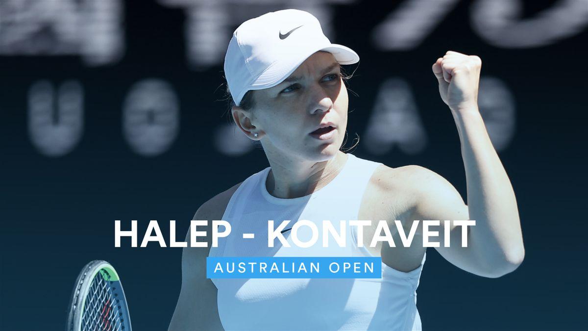 Australian Open - Highlights Kontaveit - Halep