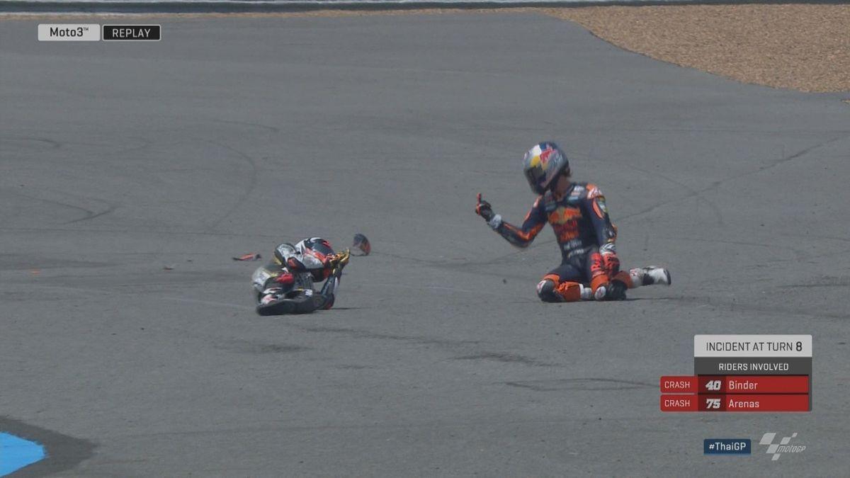 GP Thailand : Moto 3 - Crash Binder + Fuck