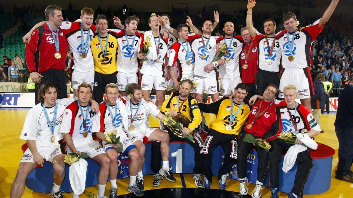 Die deutschen Handballer wurden 2004 Europameister