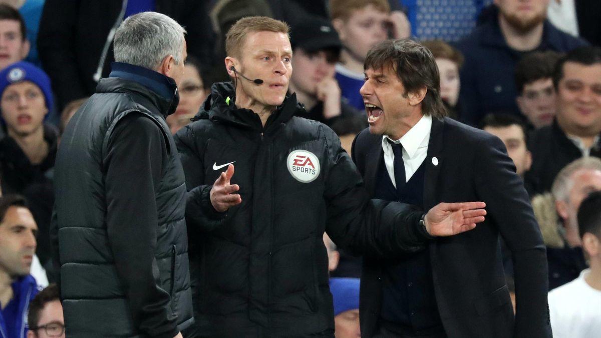 2017 Chelsea-Manchester United Mourinho vs Conte