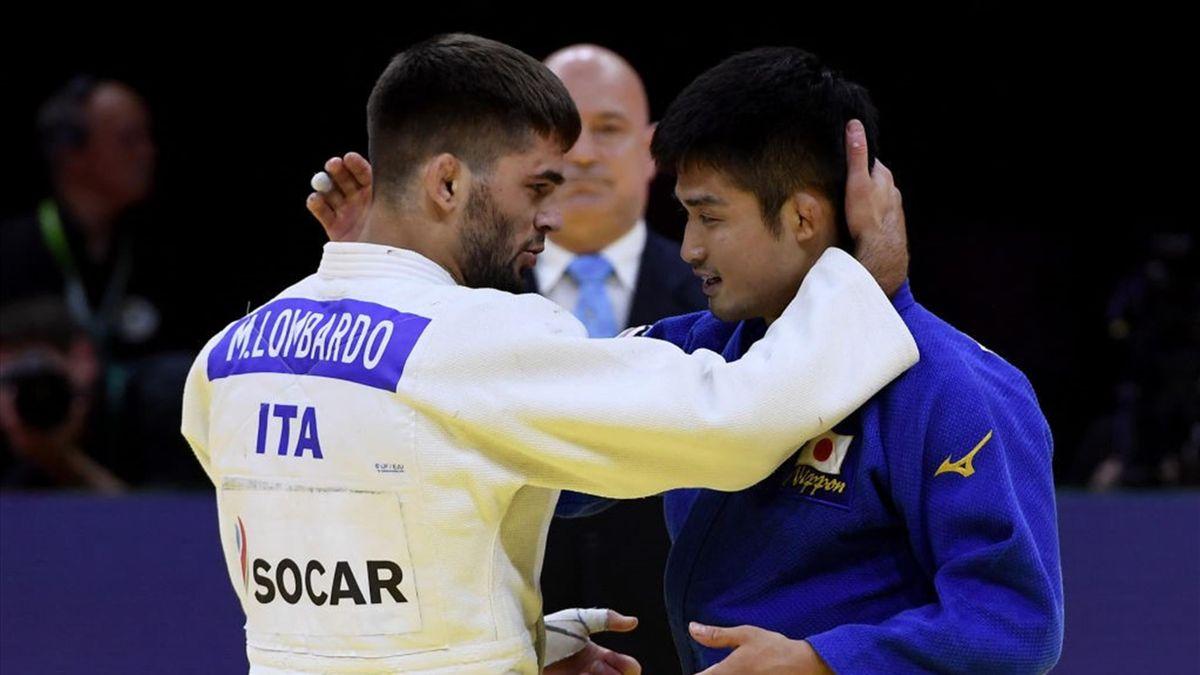 Manuel Lombardo si congratula con il giapponese Joshiro Maruyama - Mondiali 2021