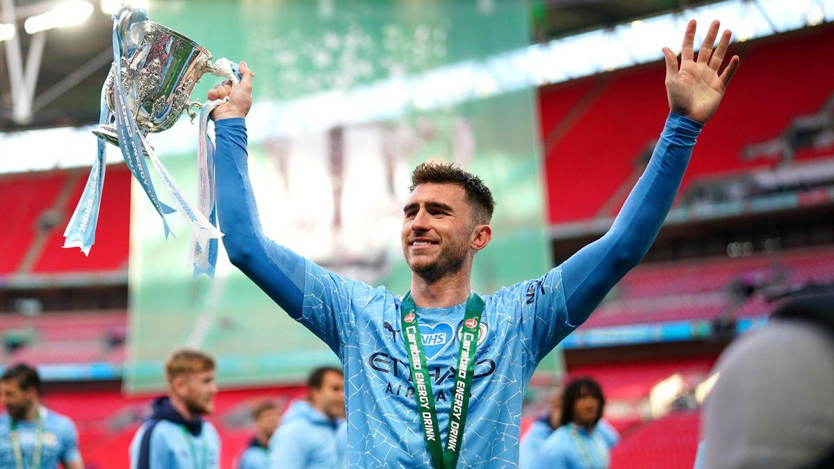Aymeric Laporte of Manchester City celebrates