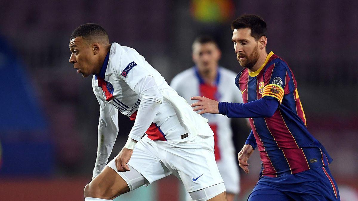 Kylian Mbappe l-a depășit clar pe Messi în meciul Barcelona - PSG 1-4