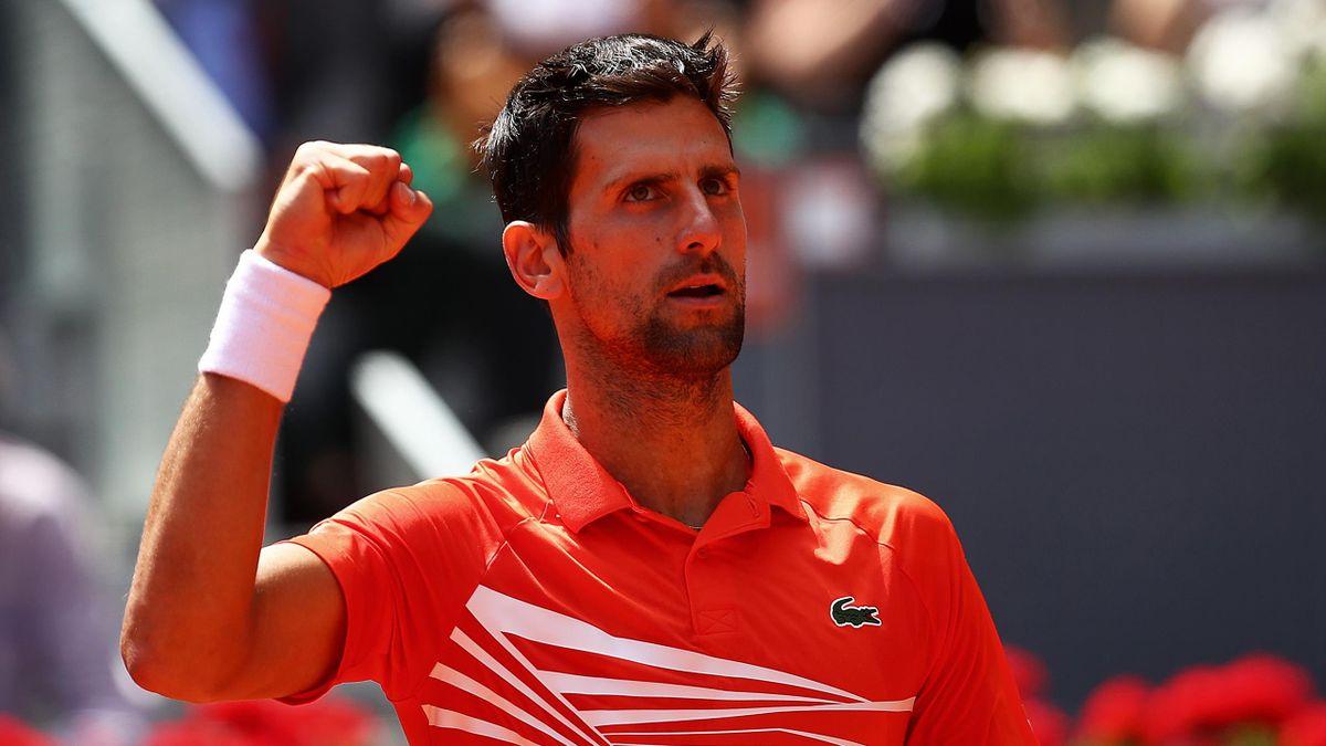 Novak Djokovic après sa victoire face à Jérémy Chardy à Madrid