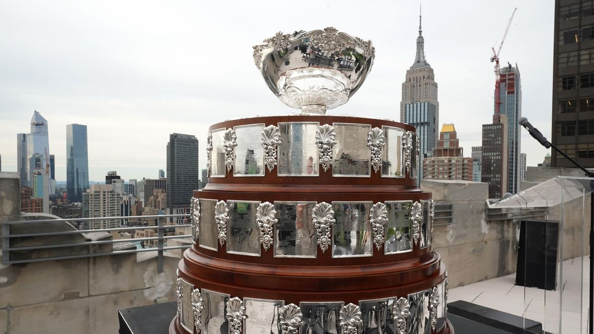 The Davis Cup Trophy is displayed at Davis Cup Presentation