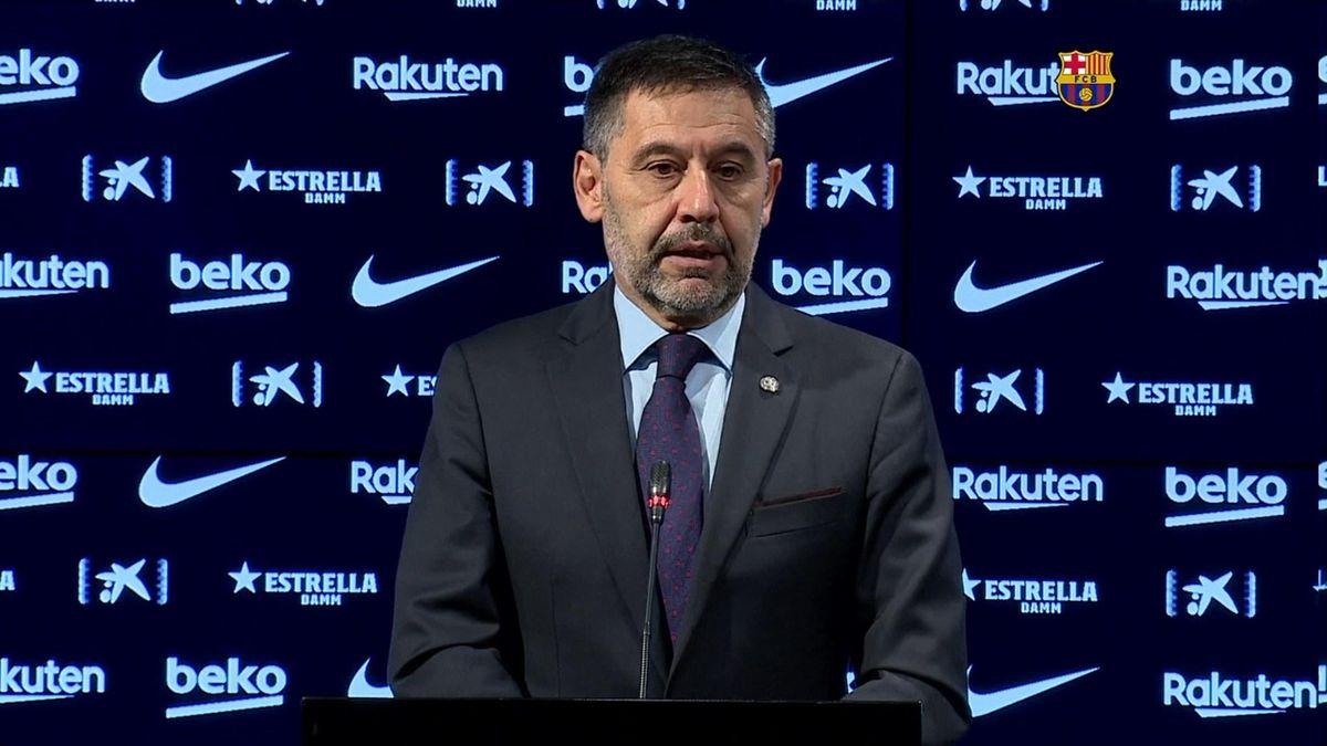 Josep Maria Bartomeu resigns as Barcelona president - Eurosport