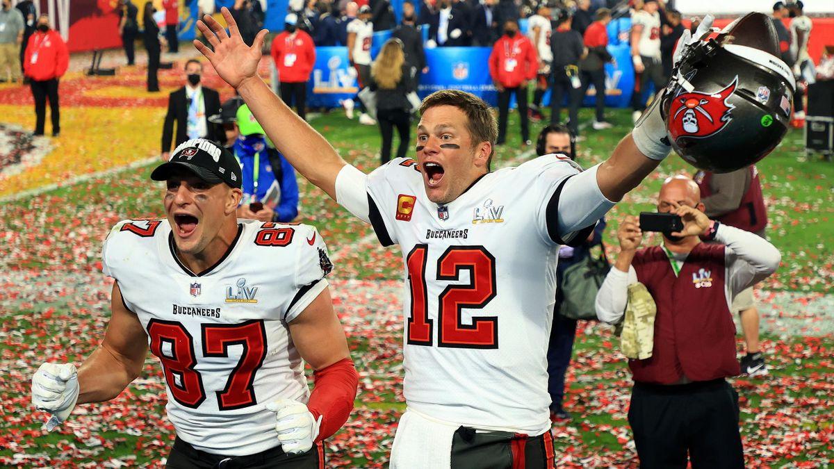 Tom Brady e Rob Gronkowski, Super Bowl LV NFL