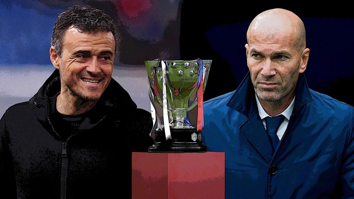 Barcelona Real Madrid La Liga title race, Luis Enrique and Zinedine Zidane