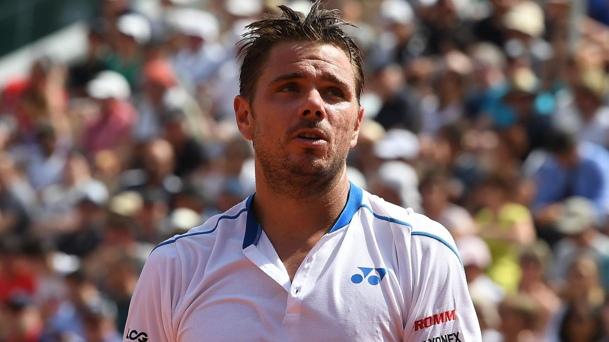 Stan Wawrinka lors de son premier tour à Roland-Garros.