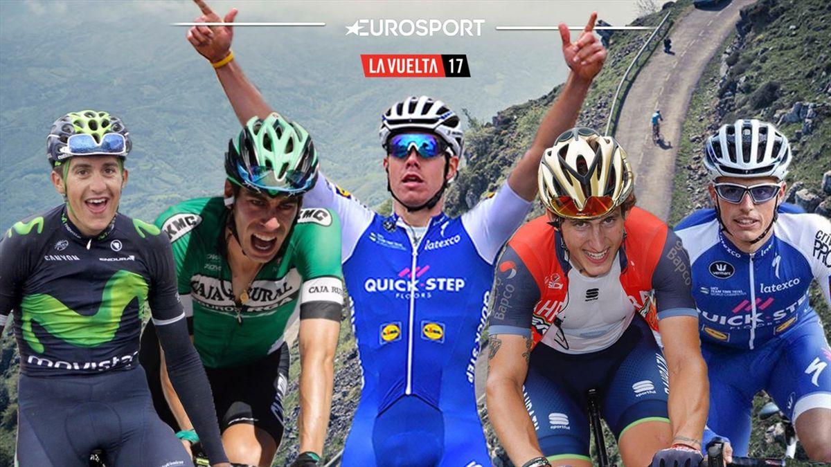 La Vuelta 2017   Marc Soler, Jaime Rosón, David De la Cruz, Iván García Cortina, Enric Mas