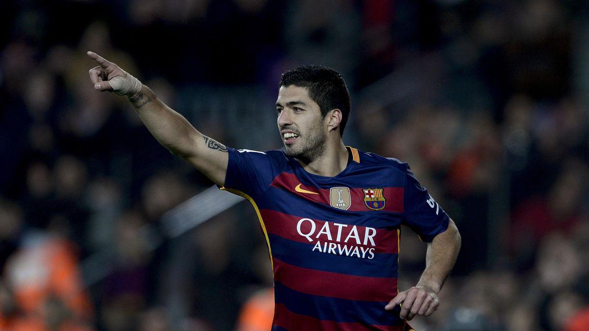 Luis Suarez sous le maillot du FC Barcelone