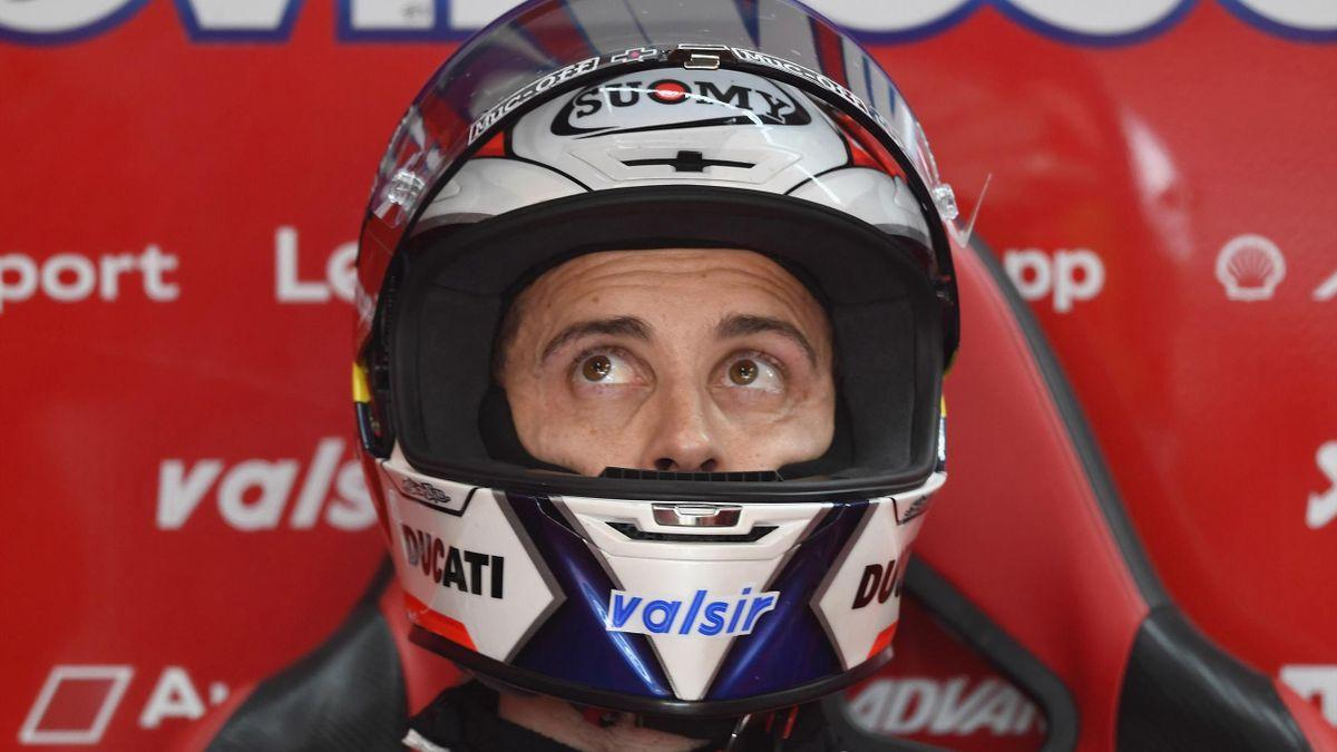 Andrea Dovizioso lors des essais du GP d'Europe.