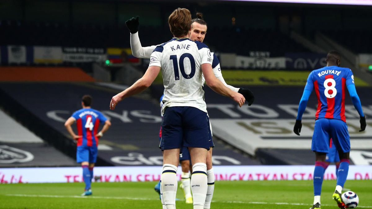 L'esultanza di Bale e Kane, Tottenham-Crystal Palace
