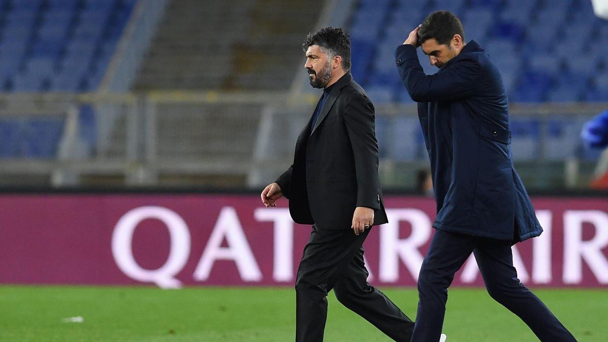 Gennaro Gattuso e Paulo Fonseca, Serie A 2020-2021 (Imago)