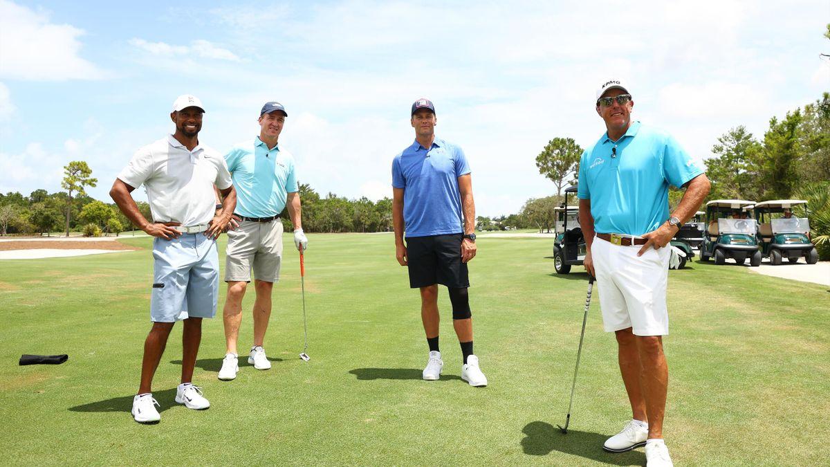 Tiger Woods, Peyton Manning, Tom Brady, Phil Mickelson