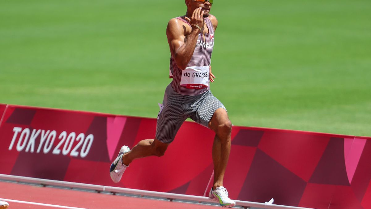 Tokyo 2020   Canadees Andre de Grasse wint 200 meter