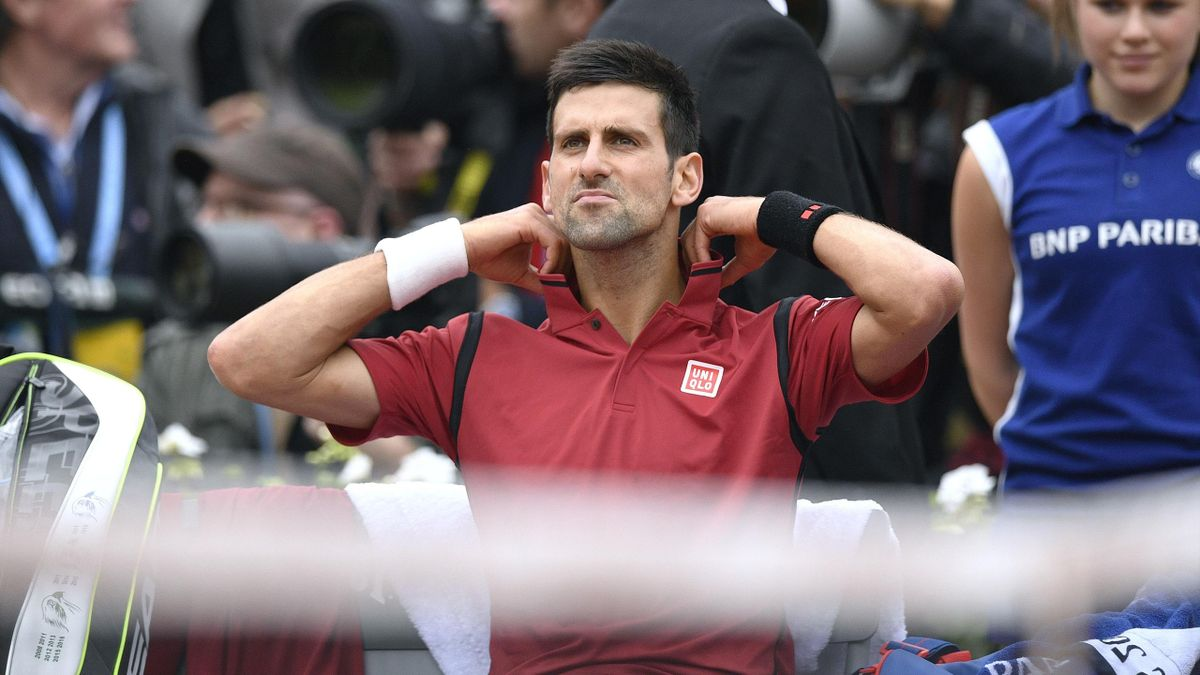 Novak Djokovic looks cool during the French Open final