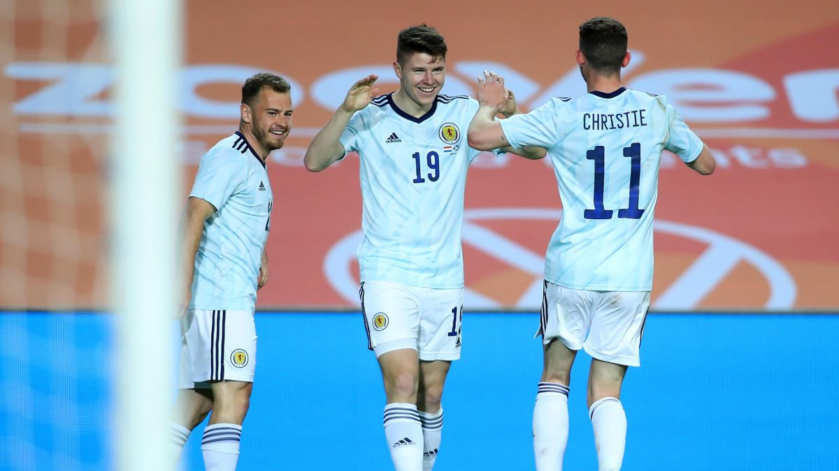 Scotland players celebrate
