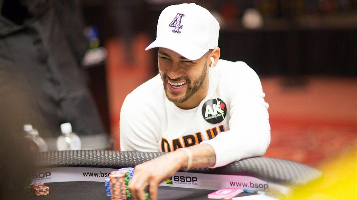 Neymar lors d'une partie de poker