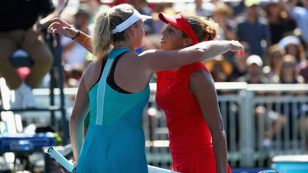 Madison Keys et Coco Vandeweghe à Stanford en 2017.