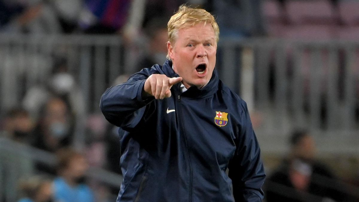 """Ronald Koeman says he is """"tired"""" of answering questions about his future as Barcelona head coach"""