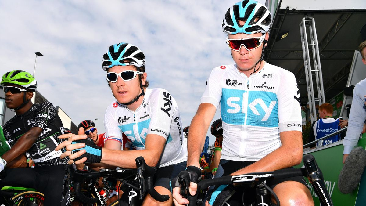Geraint Thomas of Great Britain and Team Sky / Christopher Froome of Great Britain and Team Sky / during the 15th Tour of Britain 2018
