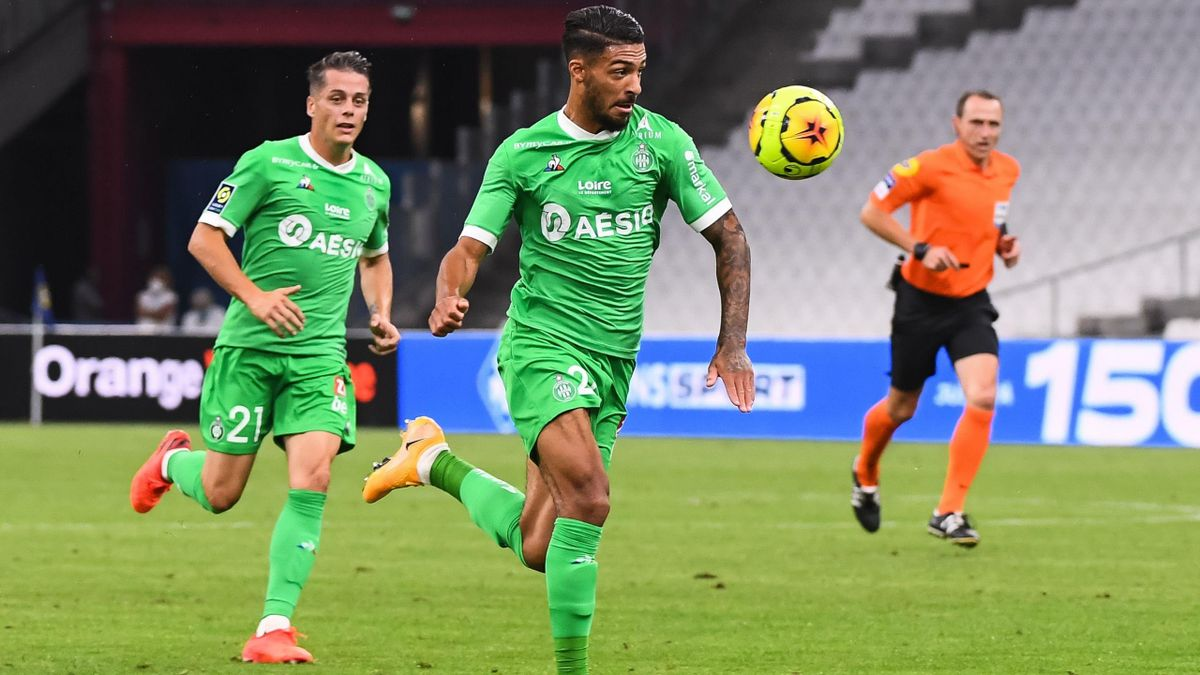 Denis Bouanga (Saint-Etienne) against Marseille - Ligue 1
