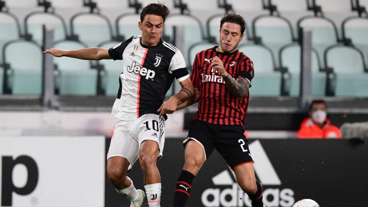 Dybala e Calabria - Juventus-Milan - Coppa Italia 2020
