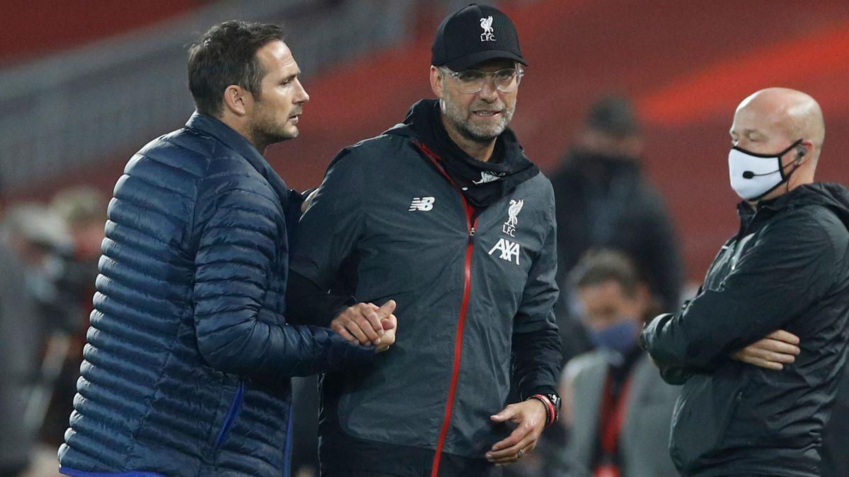 Frank Lampard și Jurgen Klopp