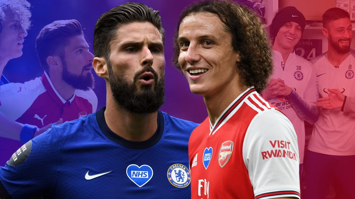 Olivier Giroud and David Luiz are set to go head to head in the FA Cup final on Saturday