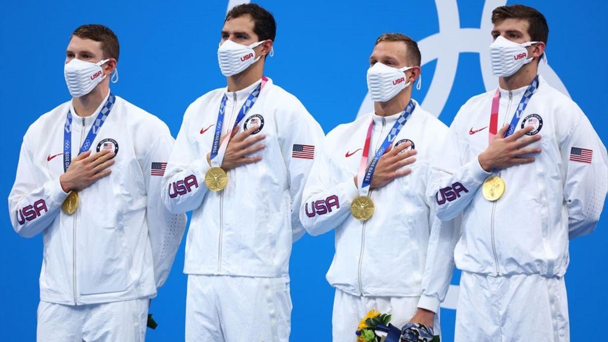 Tokyo 2020 | Mannen VS zwemmen onwaarschijnlijk wereldrecord op 4x100 meter wisselslag estafette
