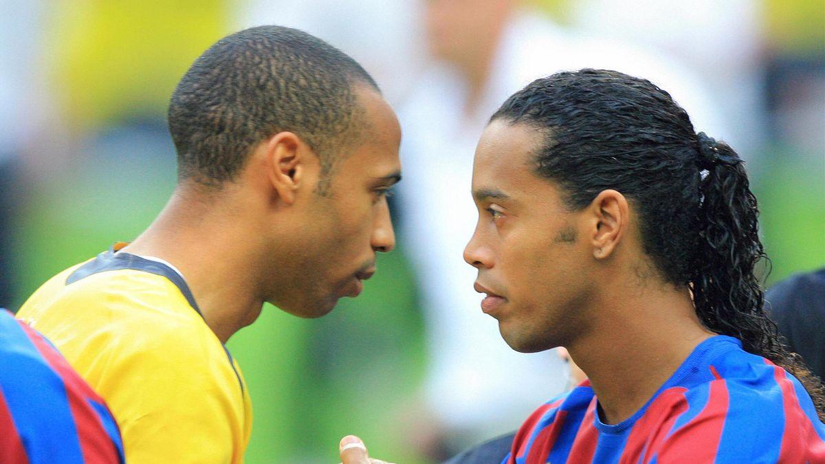 Thierry Henry et Ronaldinho, adversaires en finale de la Ligue des champions 2006.
