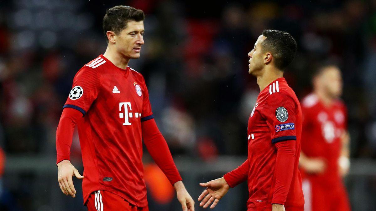 Robert Lewandowski, Thiago (FC Bayern München)