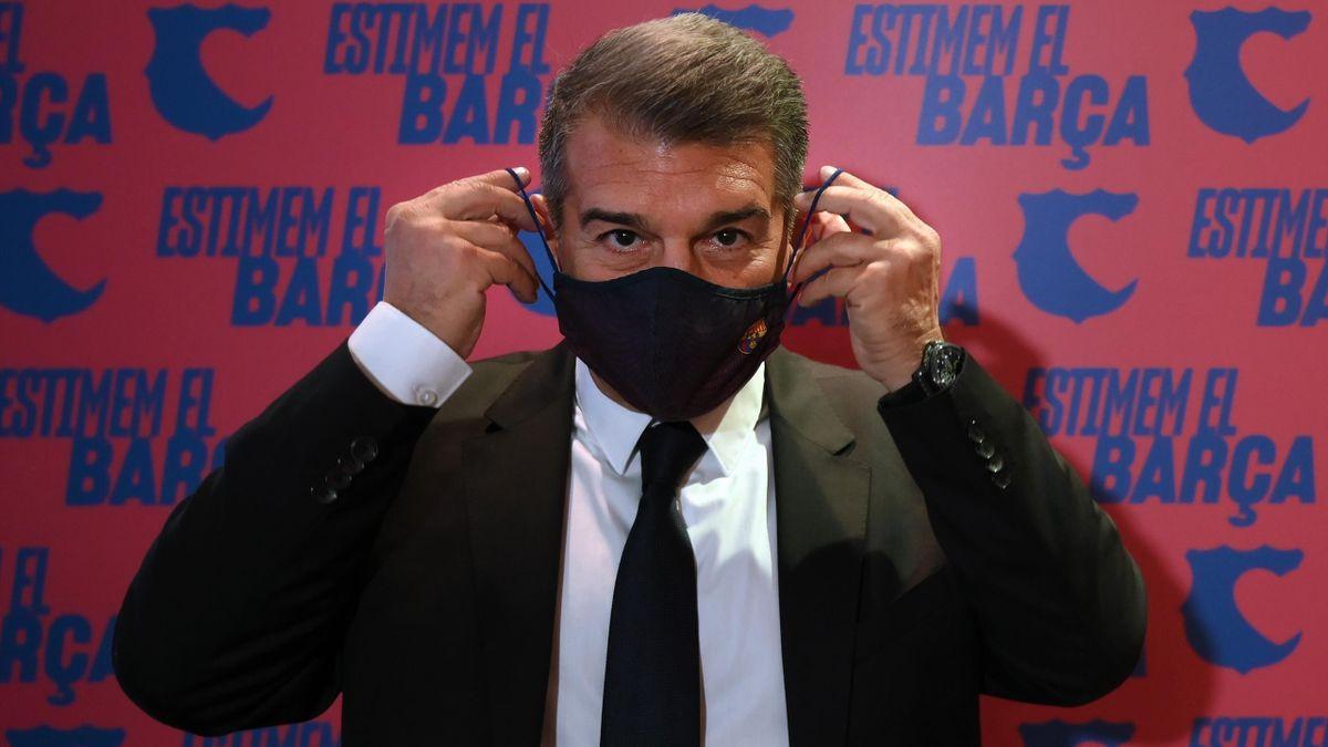 Barcelona presidential candidate Joan Laporta
