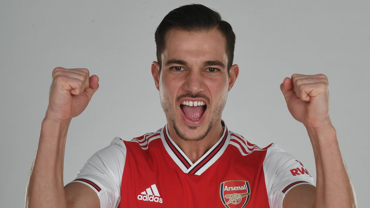 Arsenal unveil new signing Cedric Soares at London Colney