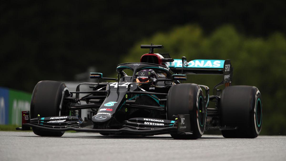 Weltmeister Lewis Hamilton dominierte das erste freie Training in Österreich