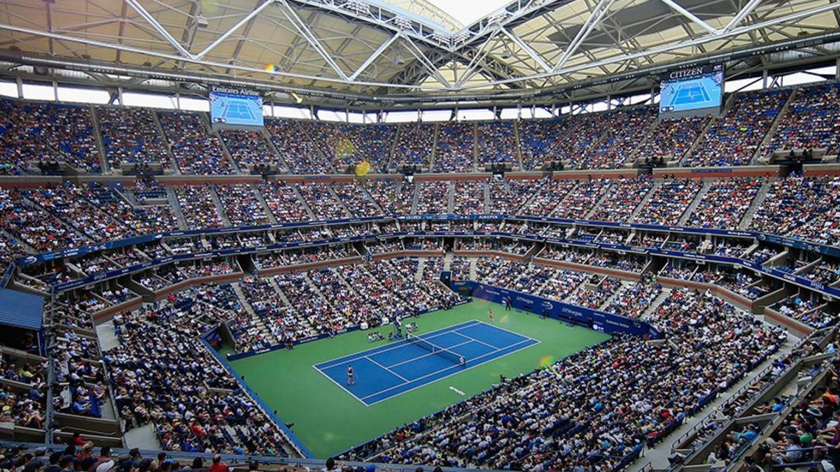 Le court Arthur-Ashe de l'US Open en 2018