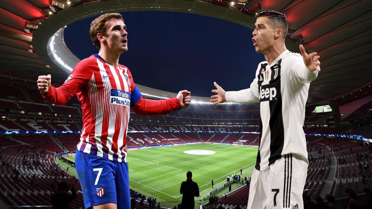 Griezmann y Cristiano, Atlético-Juventus