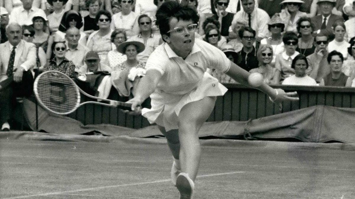 Tennis-Idol Billie Jean King (1968)