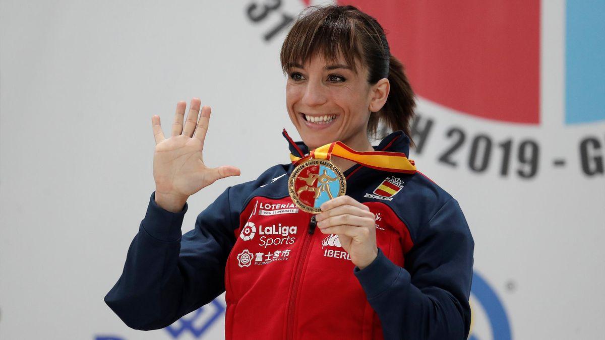 Sandra Sánchez en el campeonato de Europa de kárate 2019