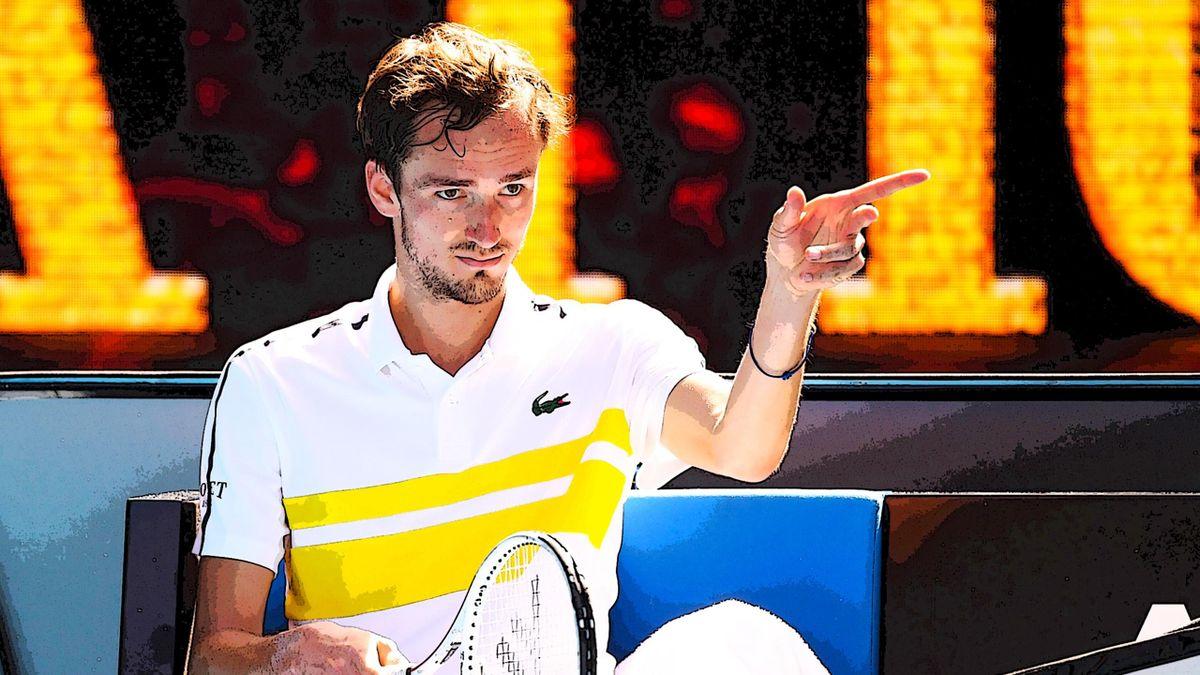 Daniil Medvedev bei den Australian Open