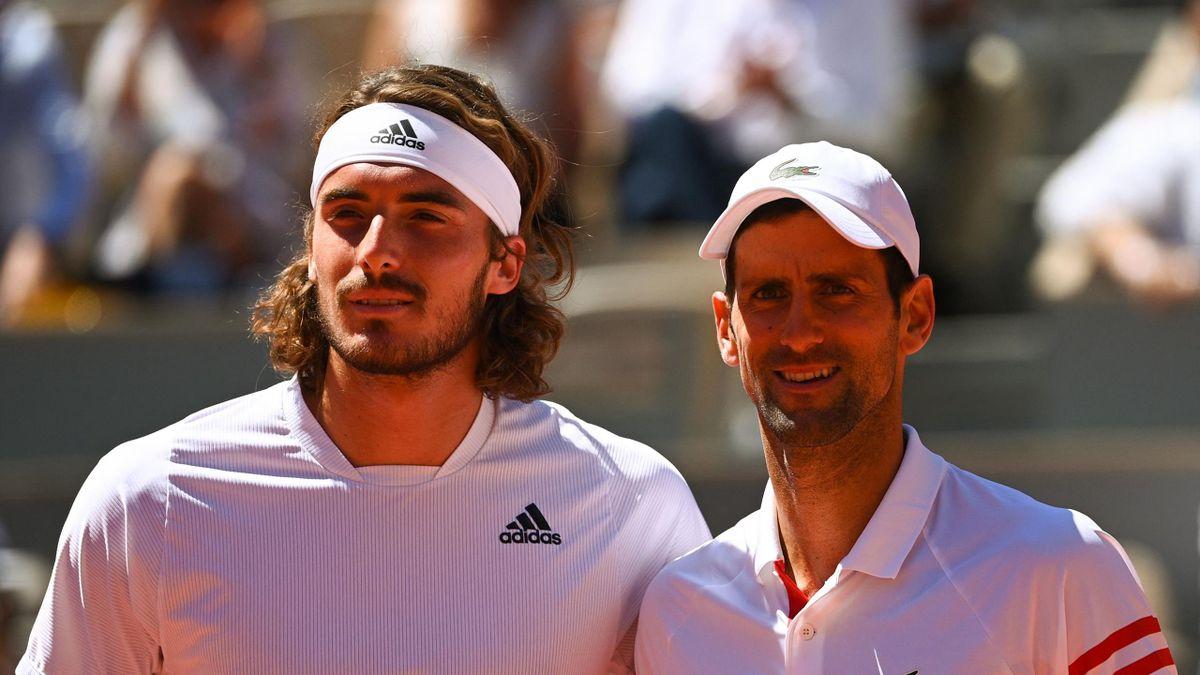 Stefanos Tsitsipas & Novak Djokovic