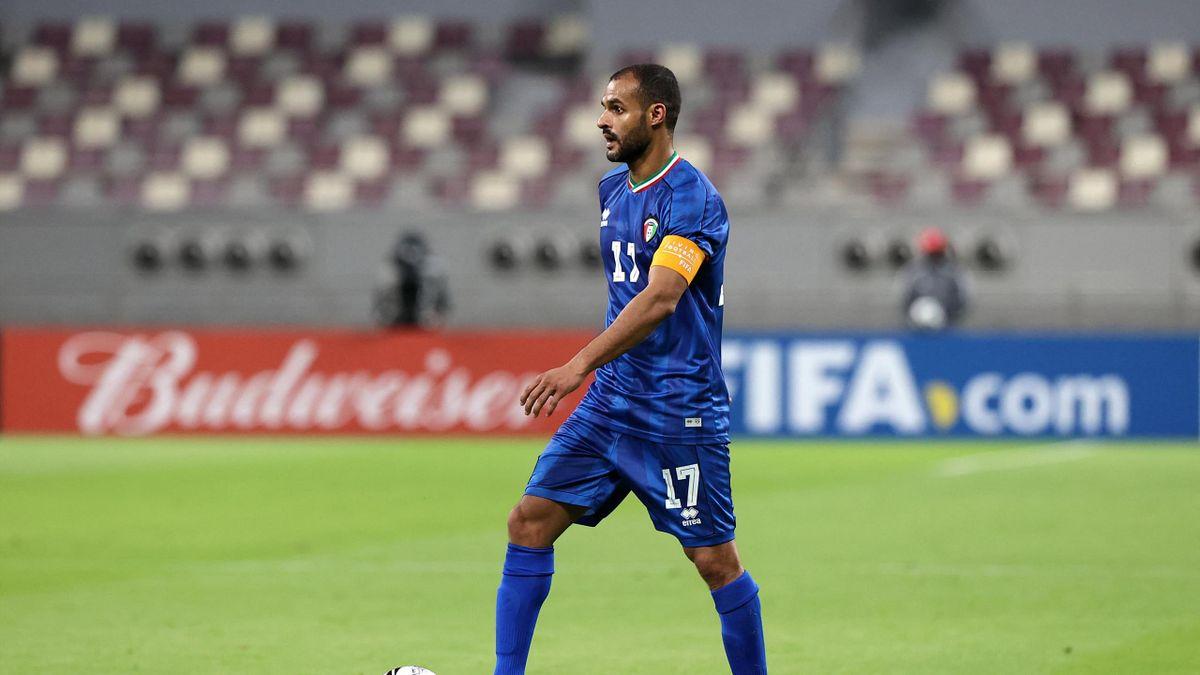 Bader al-Mutawa honore sa 185e sélection (un record) avec le Koweït, le 25 juin 2021