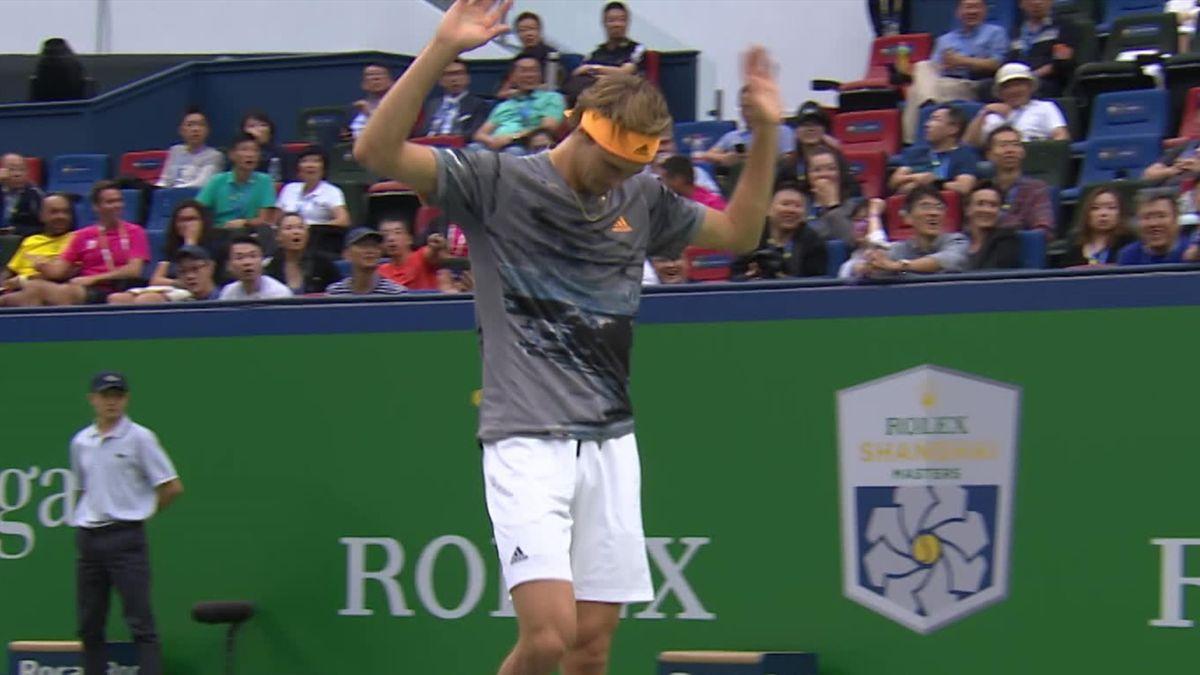 ATP Shanghai: Zverev lets go his racket