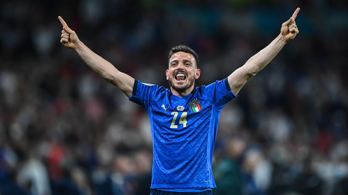 Alessandro Florenzi, Euro 2020, dopo la vittoria del trofeo (Getty Images)