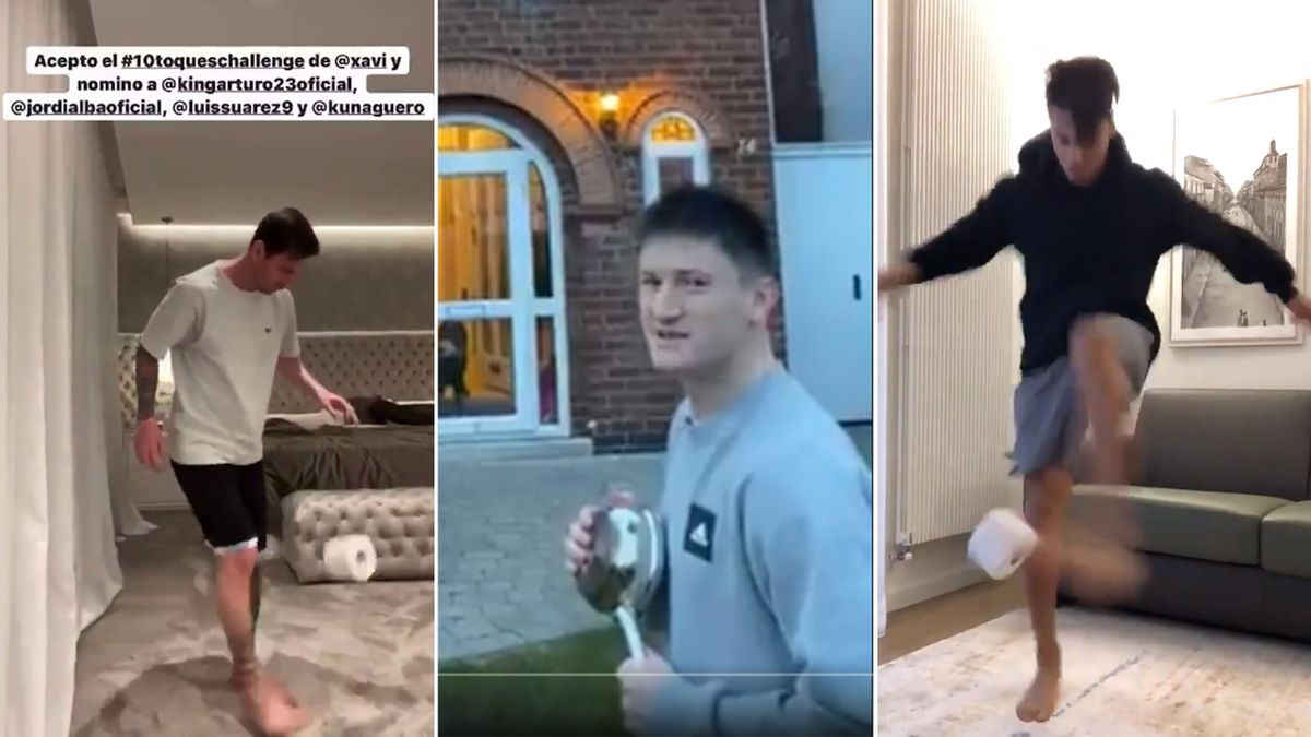Lionel Messi, Hachim Mastour and saucepans thrown over houses – the best of the #stayathomechallenge