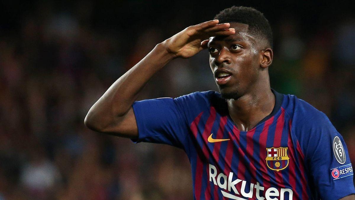 Ousmane Dembéle avec le FC Barcelone